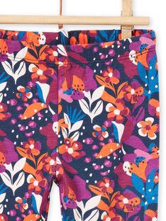Legging imprimé fleuri coloré bébé fille MYIPALEG1 / 21WI09H2CALD319