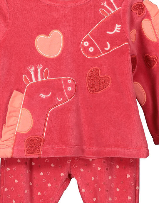 Pyjama en velours bébé fille FEFIPYJGIR / 19SH1341PYJ308