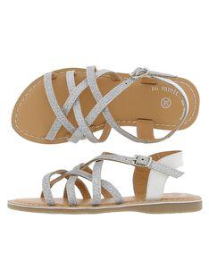 Sandale en cuir fille CFSANDARG / 18SK35WLD0E956