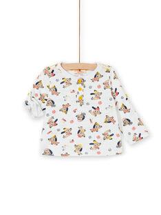 Tee Shirt Manches Longues Ecru LUNOTUN / 21SG10L3TML001