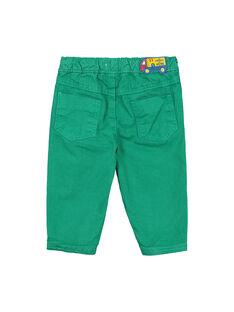 Pantalon vert bébé garçon FUJOPAN3 / 19SG1033PANG603