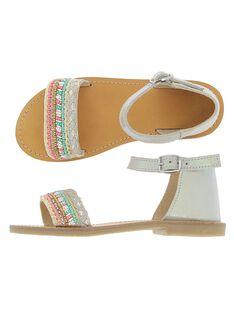 Sandale en cuir fille CFSANDSIR / 18SK35WGD0E001