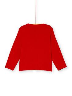 Tee shirt manches longues rouge garçon KOLUTEE2 / 20W902P1TMLF504