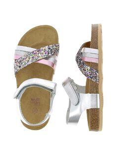 Sandale en cuir fille CFNUMULTI / 18SK35WOD0E099