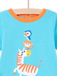 Pyjama motif jungle et legging rayé multicolore bébé garçon LEGAPYJZEB / 21SH14C2PYJC240