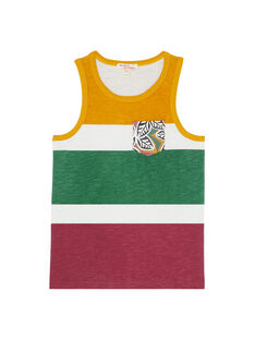 Débardeur garçon imprimé tricolore JODUDEB / 20S902O1DEB001