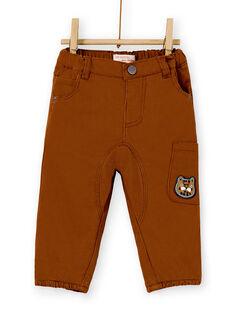 Pantalon marron bébé garçon KUSAPAN2 / 20WG10O2PANI809