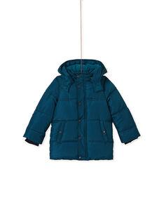 Doudoune imprimée turquoise enfant garçon KOGRODOU5 / 20W902K2D3E716