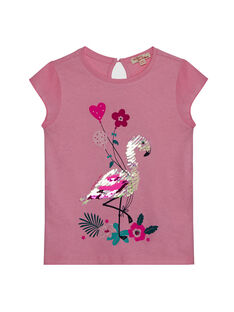 Tee Shirt Manches Courtes Rose JAPOETI2 / 20S901G1TMCD303