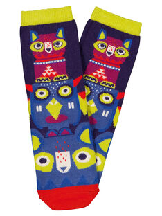 "Chaussettes motif ""totem"" multicolore GYOVIOCHO / 19WI02R1SOQC204"