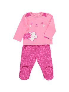Pyjama en coton bébé fille CEFIPYJCHA / 18SH1341PYJ313