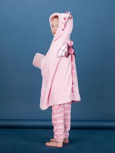 Cape enfant fille rose dragon licorne à poches KEFACAPDRAG / 20WH11C1CPED313