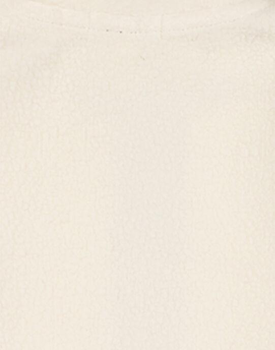Gilet Moutonné Ecru GOJOGIL1 / 19W902L3D28003