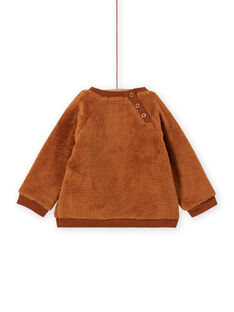 Sweat marron motif ours bébé garçon MUFUNSWE / 21WG10M1SWEI820