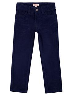 Pantalon En velours Marine Regular GOJOPAVEL1 / 19W90232D2B070