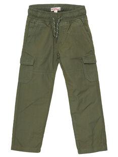 Pantalon maternel elastiqué avec poches cotés kaki JOJOPAMAT2 / 20S90252D2B604