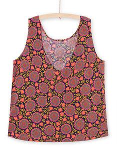 Chemisier sans manches imprimé floral femme LAMUMCHEM1 / 21S993Z1CHEC211