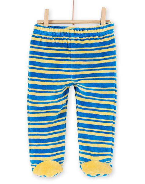 Pyjama layette garçon en velours motif savane LEFUPYJAMI / 21SH1411PYJC209