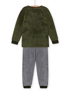 Ensemble pyjama motif loup en soft boa enfant garçon MEGOPYJBOA / 21WH1294PYJ628