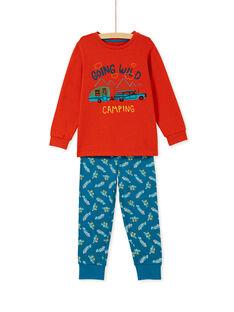 Pyjama enfant garçon motif voitures KEGOPYJCAR / 20WH12B2PYJE414