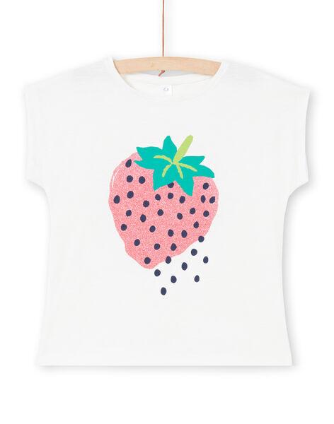 T-shirt manches courtes, imprimé fraise à paillettes LAJOTI9 / 21S901F7D31001