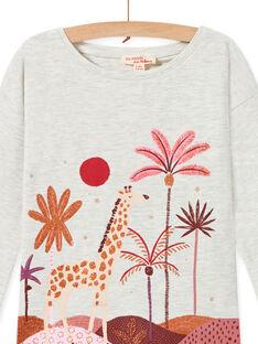 Tee Shirt Manches Longues Ecru chiné MACOMTEE2 / 21W901L3TML006