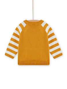 Pull jaune moutarde bébé garçon MUSAUPUL / 21WG10P1PULB106