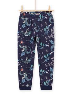 Ensemble pyjama imprimé dragon phosphorescent enfant garçon MEGOPYJGON / 21WH1295PYJJ922