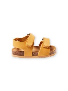 Sandales unies jaunes bébé garçon LBGNUJAUNE / 21KK3852D0E010