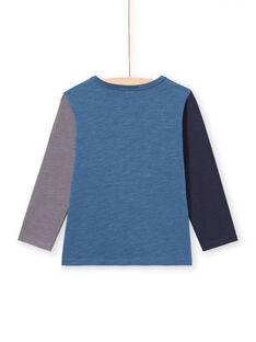 T-shirt manches longues bleu motifs dinosaures enfant garçon MOPATEE2 / 21W902H2TML219