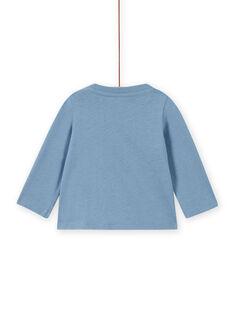 T-shirt bleu horizon animation dragon astronaute bébé garçon MUPLATEE1 / 21WG10O2TML216