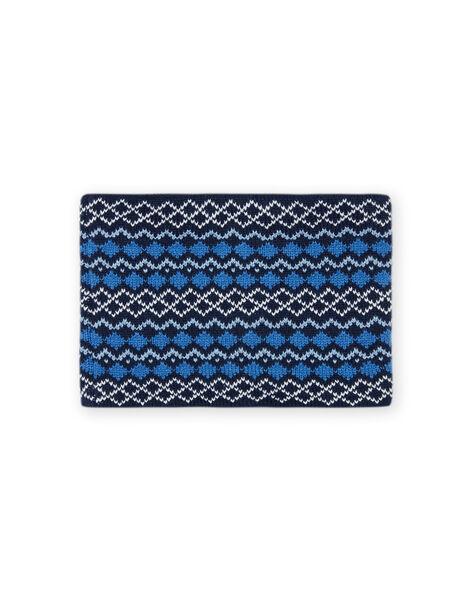 Snood bleu motif jacquard enfant fille MYOGROSNO5 / 21WI0267SNO221