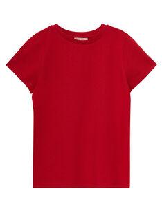 Tee shirt manches courtes uni garçon rouge JOESTI4 / 20S90264D31F505