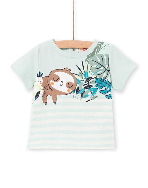 Tee Shirt Manches Courtes Vert LUVERTI3 / 21SG10Q3TMCG632