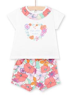 Ensemble short et T-shirt bébé fille LIVIENS / 21SG09U1ENS000