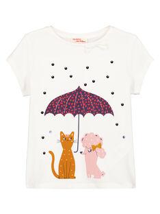 Tee Shirt Manches Courtes Ecru GASANTEE1EX / 19W901C1TMC001