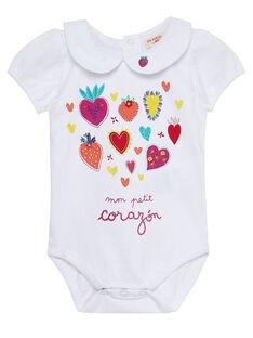 Body blanc bébé fille JIMARBOD / 20SG09P1BOD000