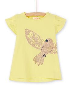 Tee Shirt Manches Courtes Jaune LAJOTI5 / 21S90134D31116