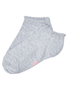 Socquette fille gris chiné avec bord lurex JYAESCHOS2 / 20SI0164SOQ943