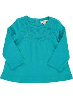 Tee-shirt manches longues bébé fille CIJOTEE6A / 18SG09R6TML202