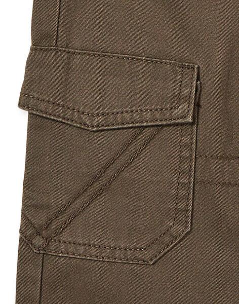 Pantalon cargo kaki enfant garçon KOJOPAMAT2 / 20W9023BD2B604