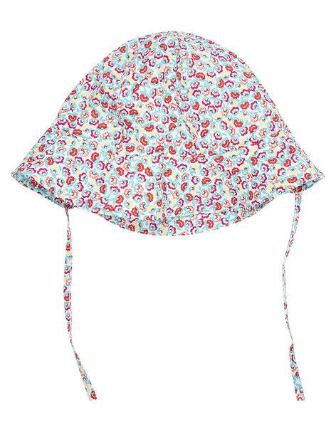 Chapeau blanc à imprimé fleuri bébé fille JYIMARCHA / 20SI09P1CHA000