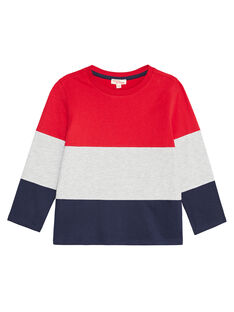 Tee shirt color block enfant garçon KOJOTIDEC1 / 20W9023BD32F518