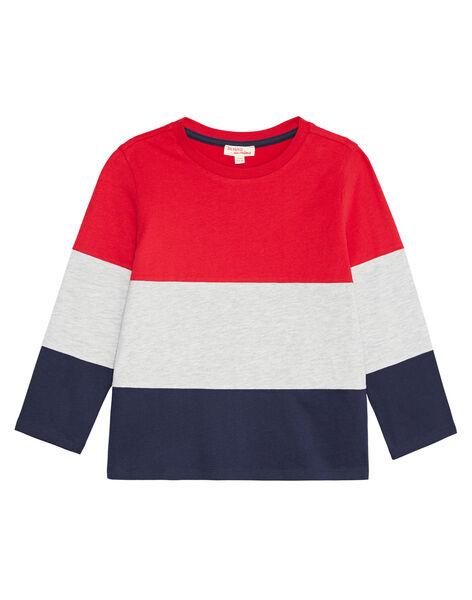 Tee shirt color block enfant garçon KOJOTIDEC1 / 20W9023BD32F518