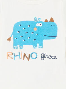 Body écru manches longues motif rhinocéros LEGABODRINO / 21SH142CBDL001