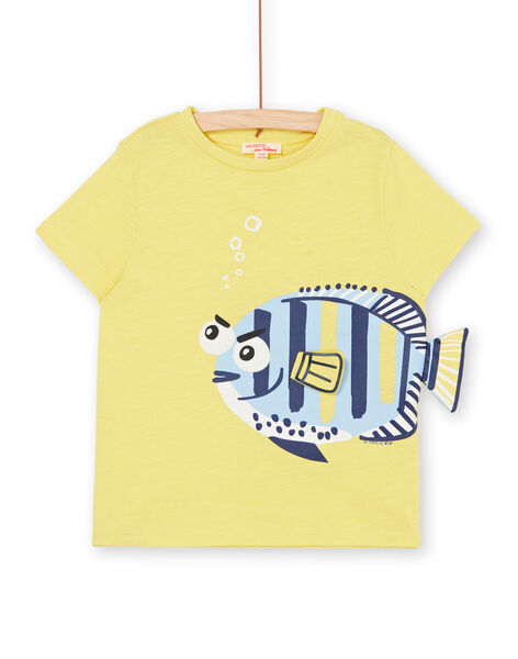 Tee Shirt Manches Courtes Jaune LONAUTI2 / 21S902P3TMCB102