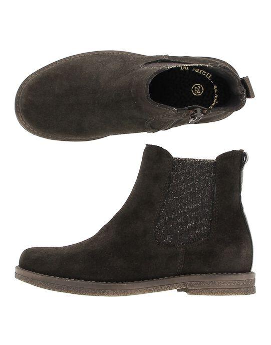 Boots en cuir fille DFBOOTCHOC / 18WK35TCD0D802