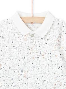 Ensemble chemise et pantalon blanc et kaki naissance garçon MOU1ENS4 / 21WF0441ENS001