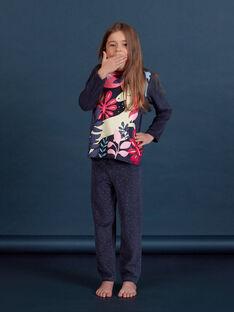 Ensemble pyjama en velours motif phosphorescent enfant fille MEFAPYJORN / 21WH1181PYJ070