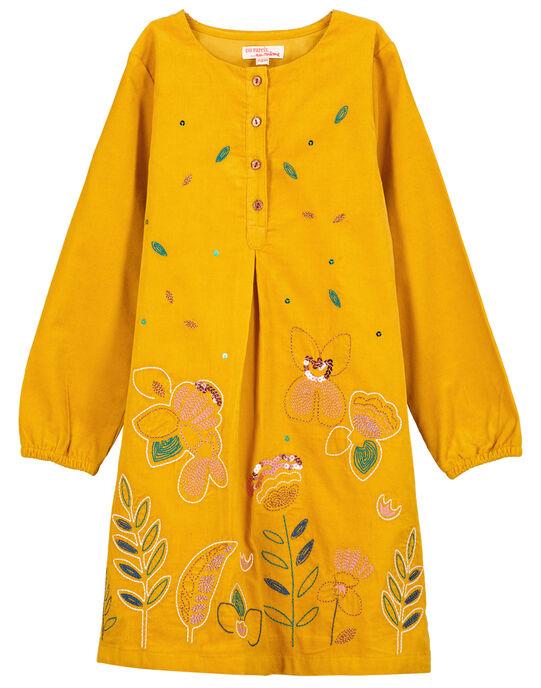 Robe à manches longues fille GAJAUROB1 / 19W901H3ROBB107